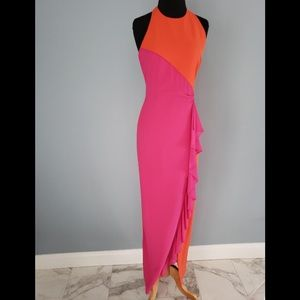 NWT Color duo Nicole Miller Gown Size 4